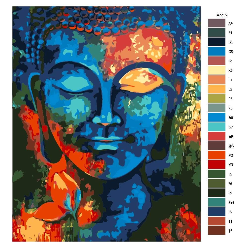 Návod pro malování podle čísel Buddha 01