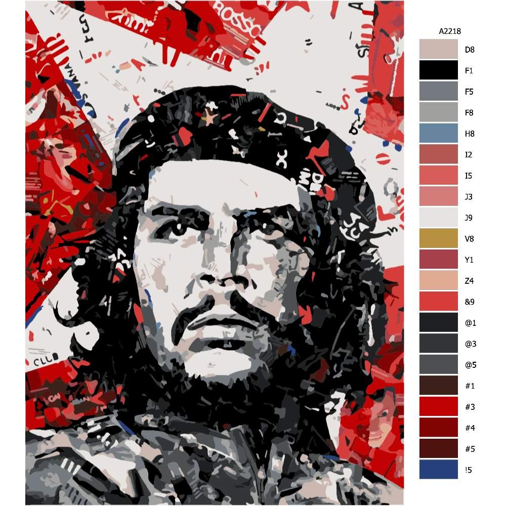 Návod pro malování podle čísel Che Guevara 01
