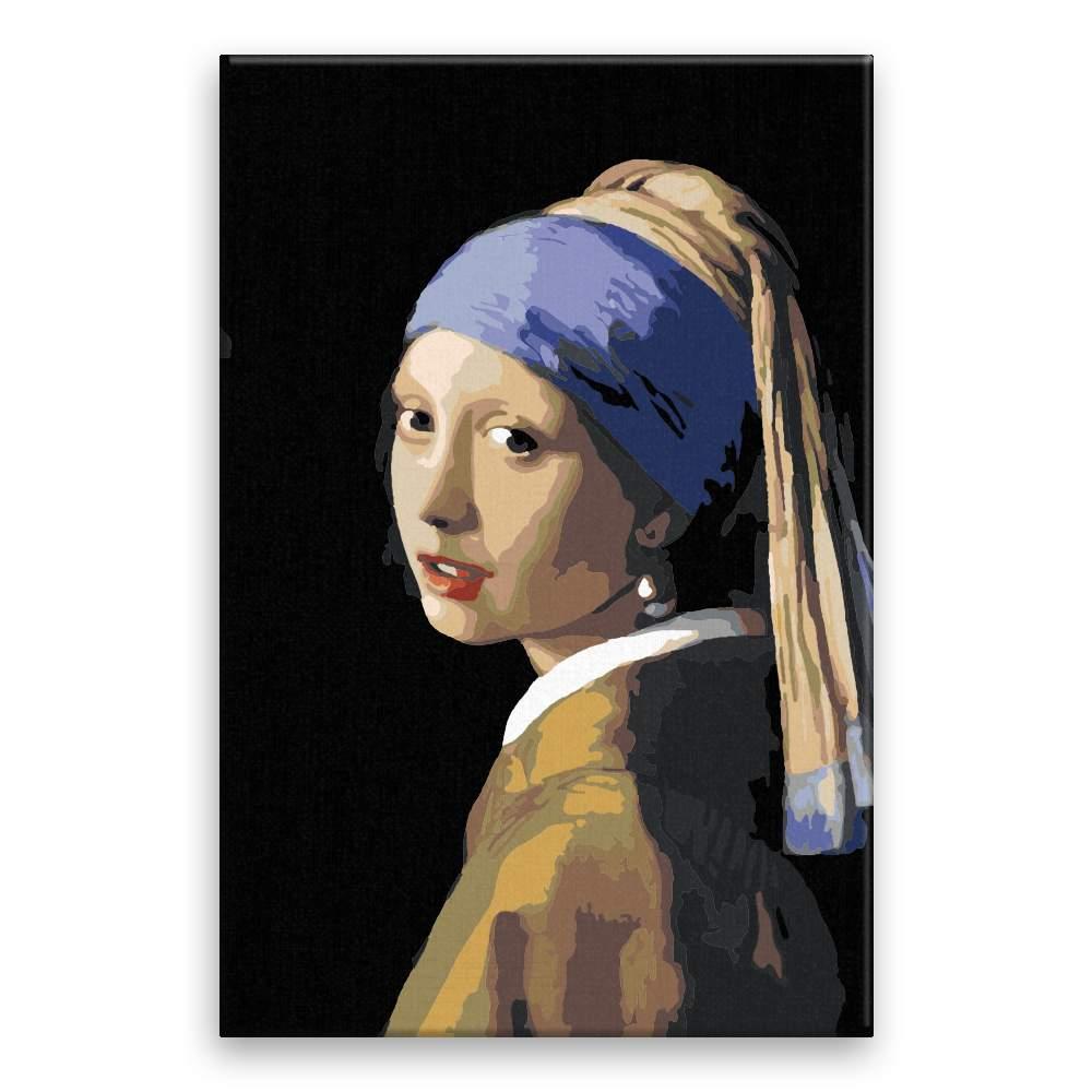 Malování podle čísel Dívka s perlami Johannes Vermeer