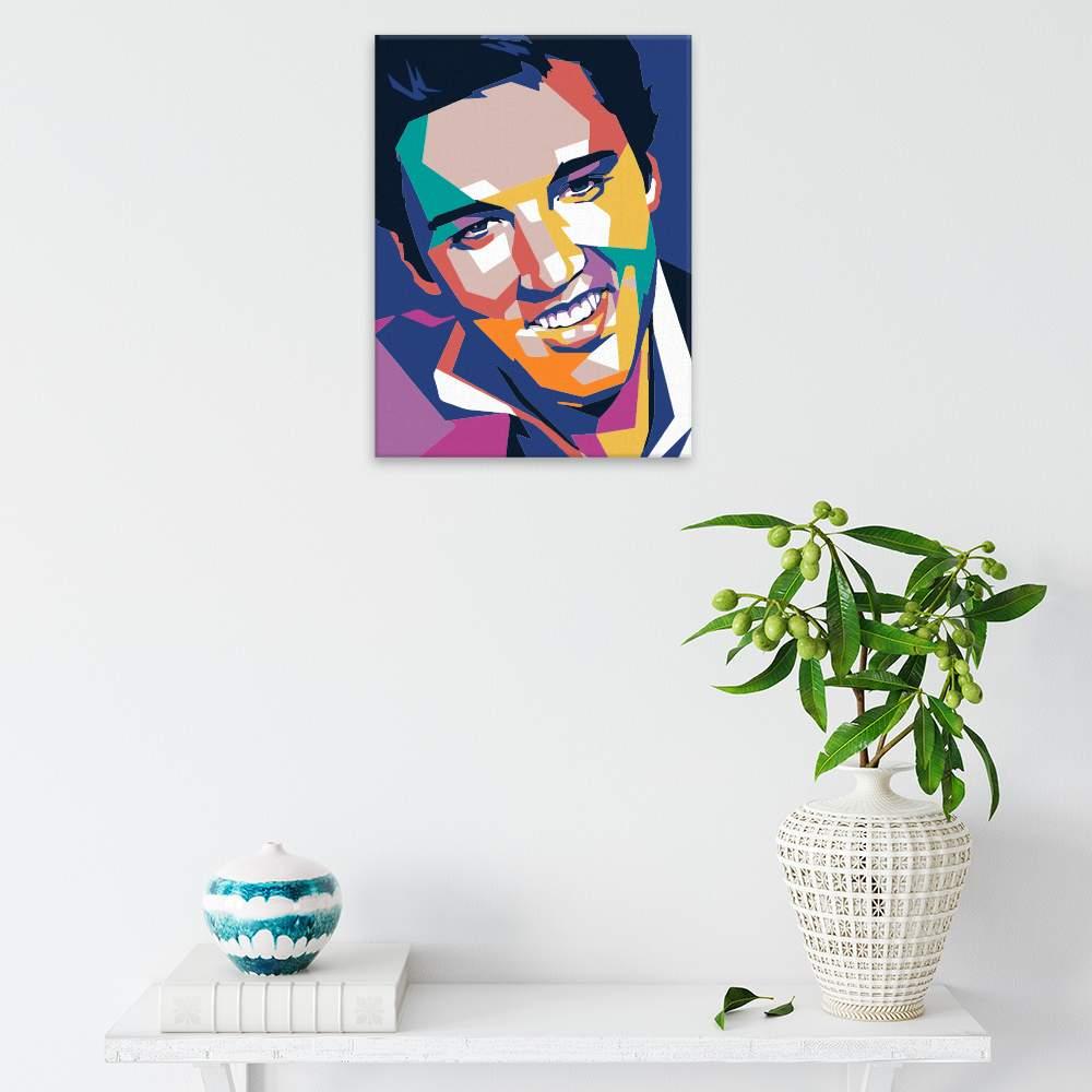 Malování podle čísel Elvis Plesley 01