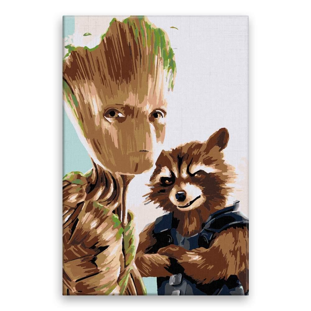 Malování podle čísel Groot 02