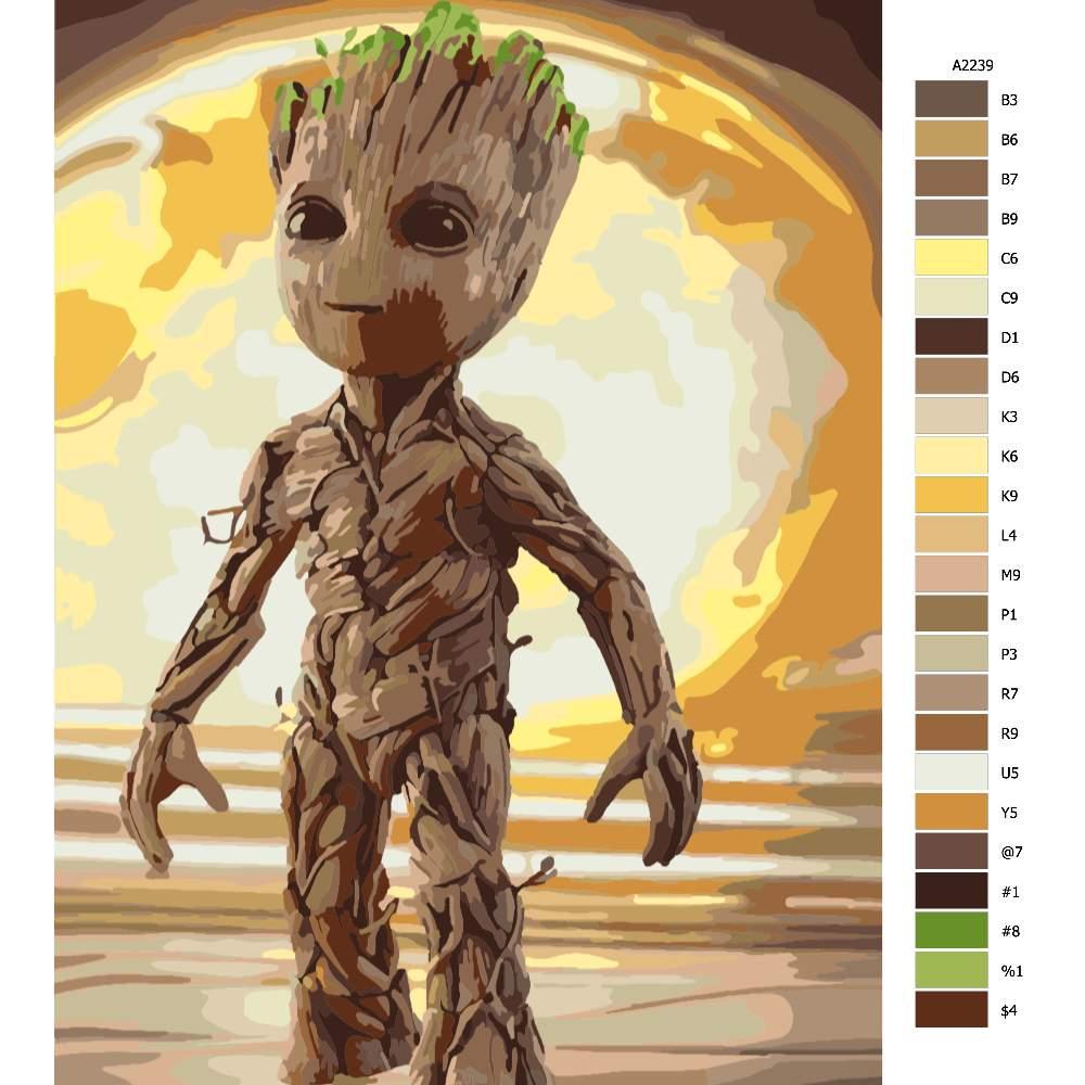 Návod pro malování podle čísel Groot 05