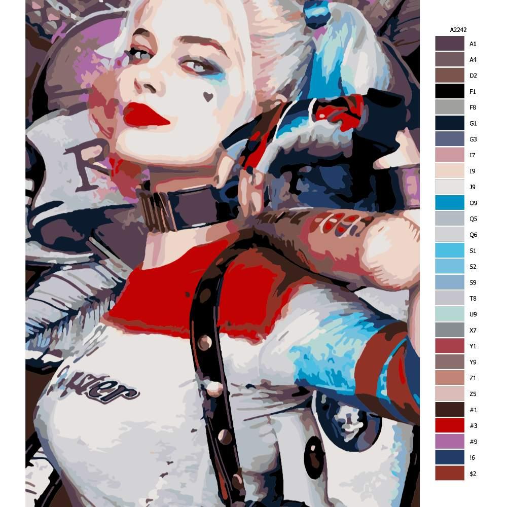 Návod pro malování podle čísel Harley Quinn 03