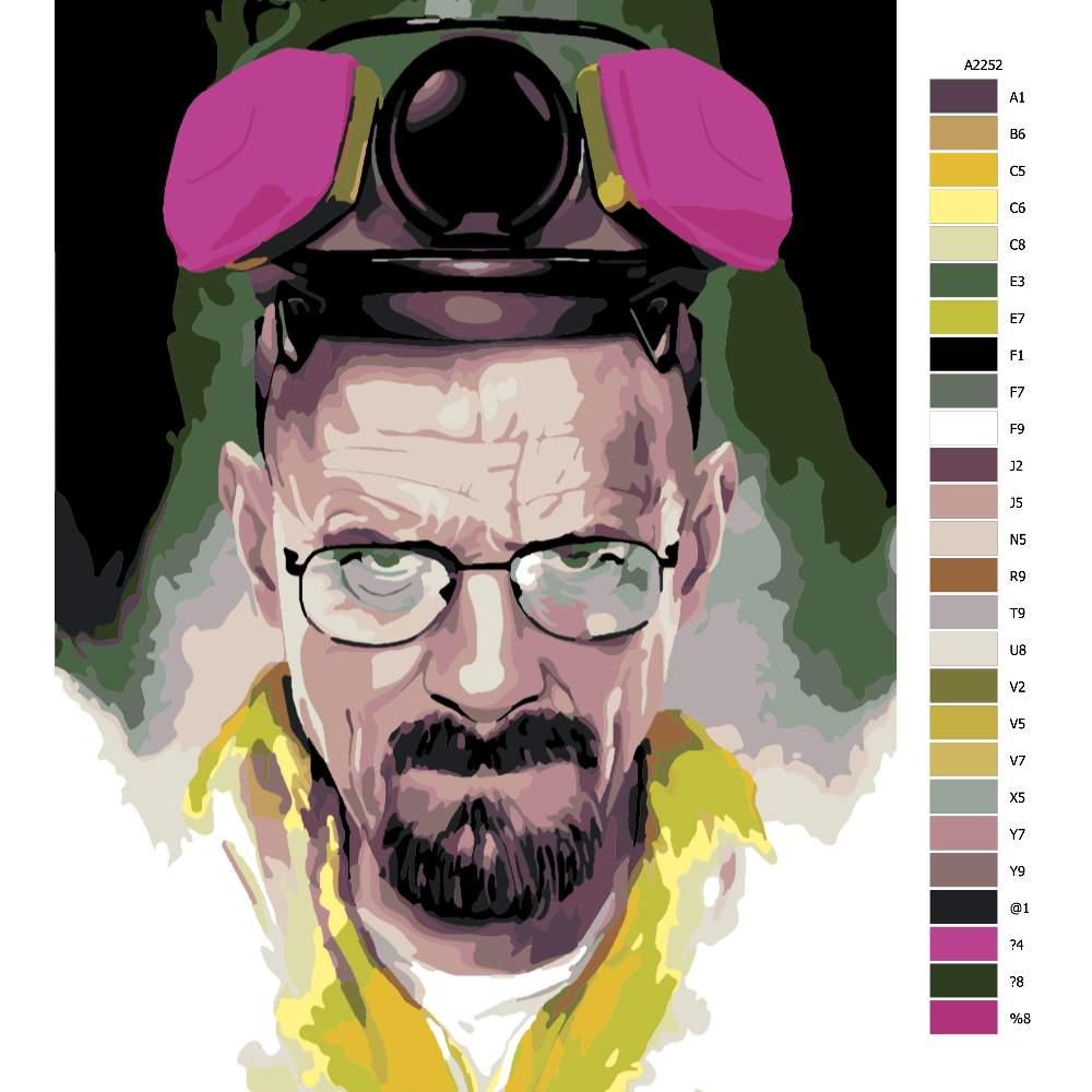 Návod pro malování podle čísel Heisenberg 02