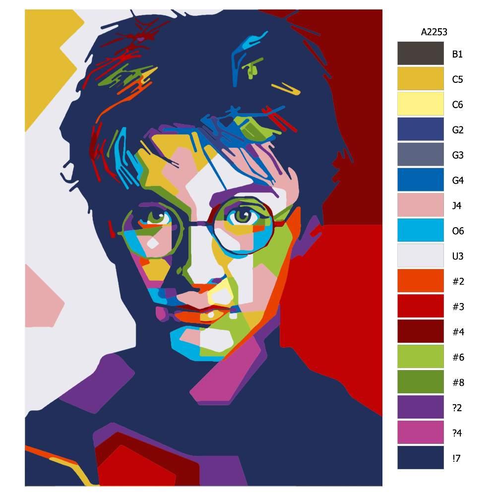 Návod pro malování podle čísel Harry Potter 03