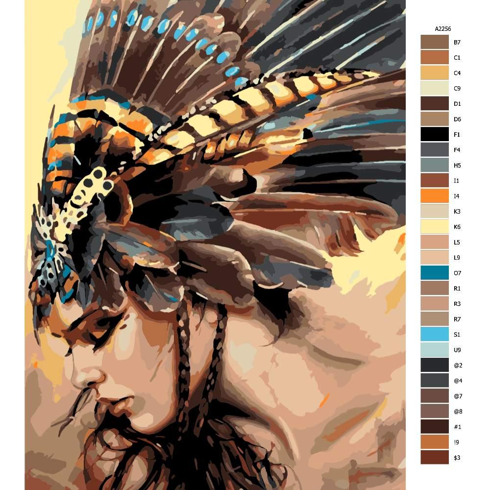 Malování podle čísel Indigenous Women 02