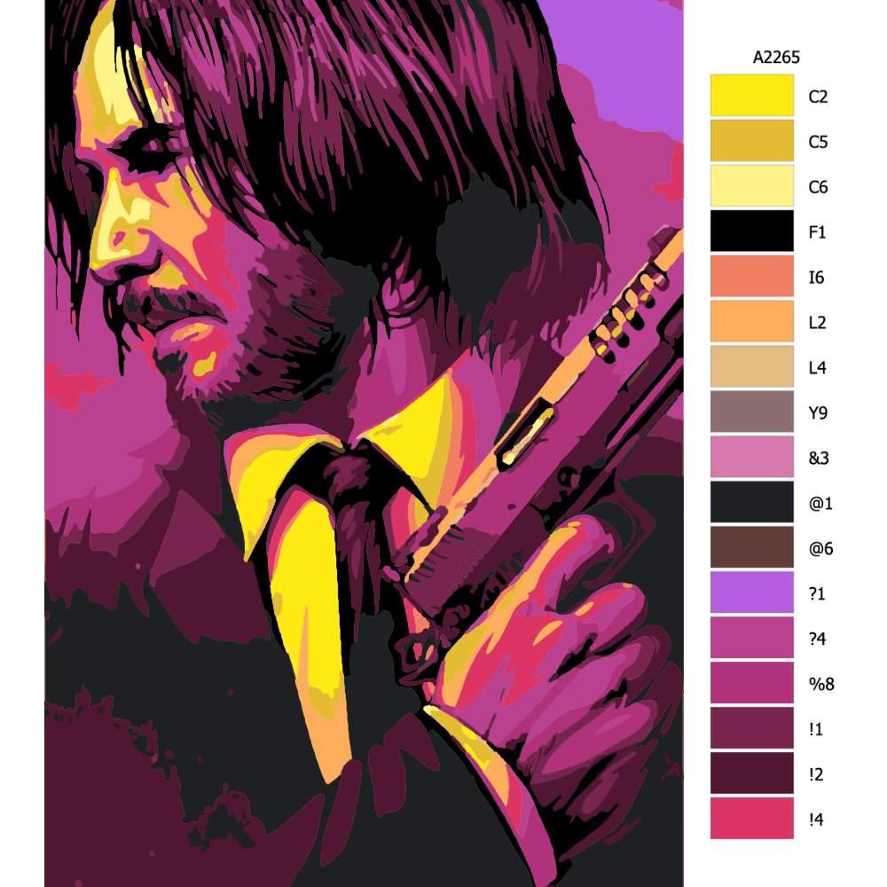 Návod pro malování podle čísel John Wick 01