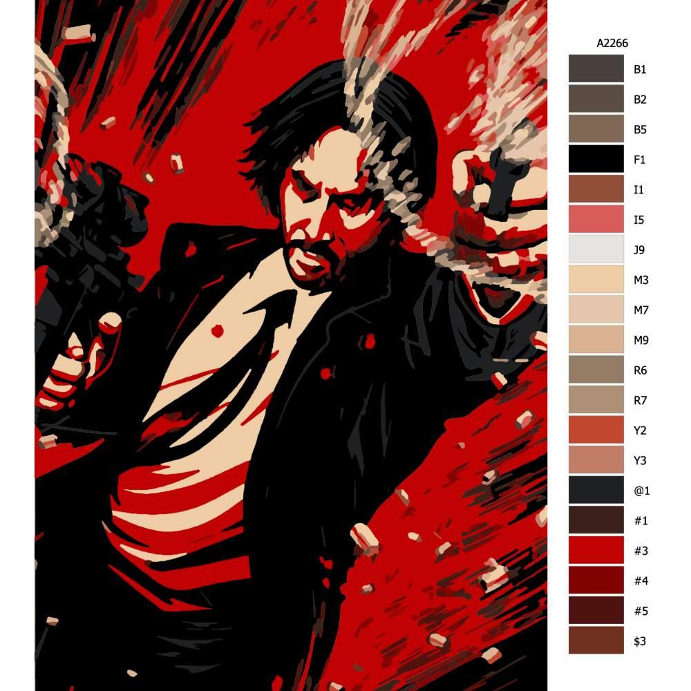 Návod pro malování podle čísel John Wick 02