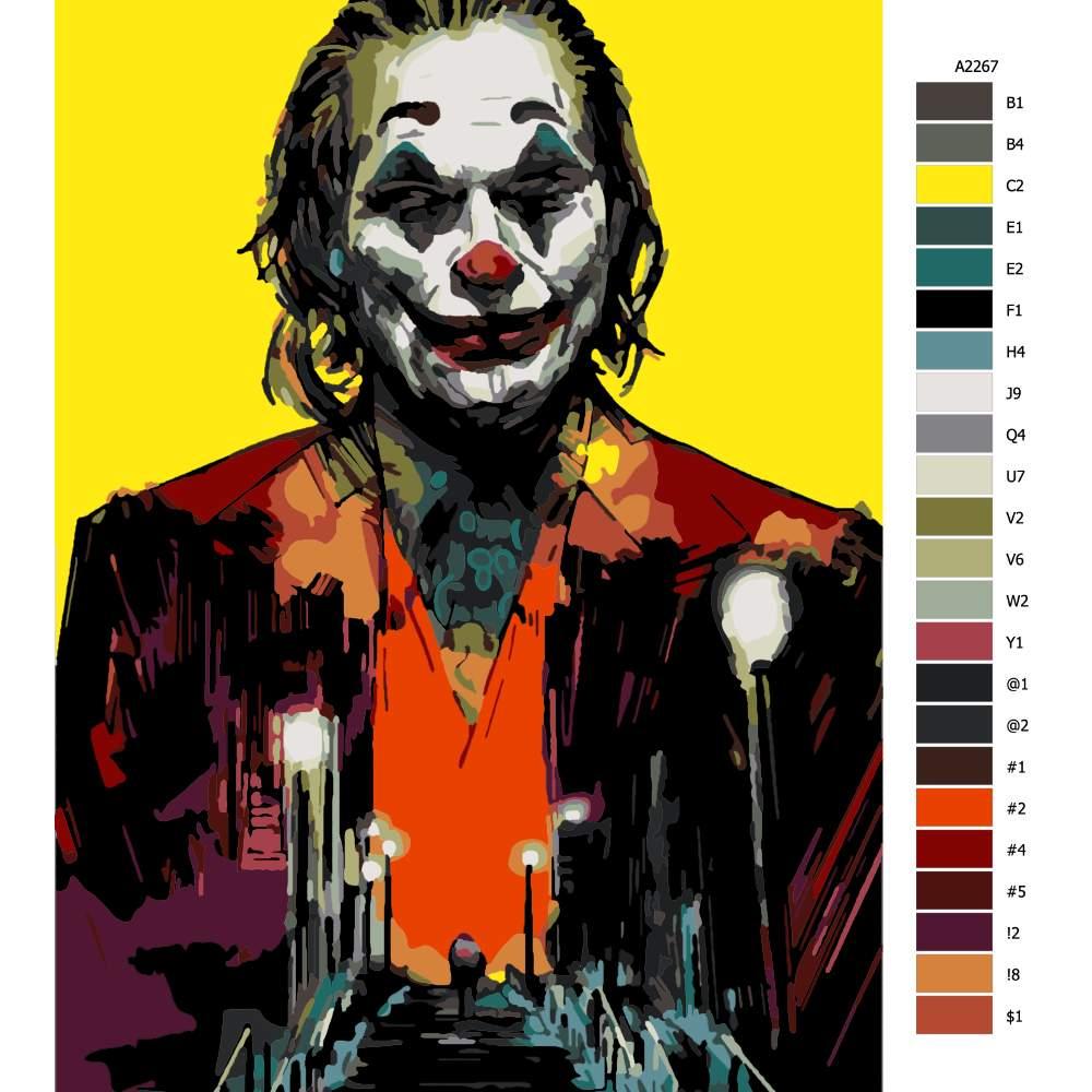 Návod pro malování podle čísel Joker 03