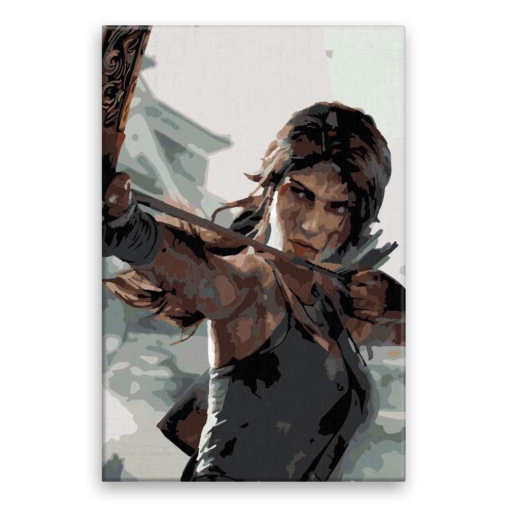 Malování podle čísel Lara Croft 01