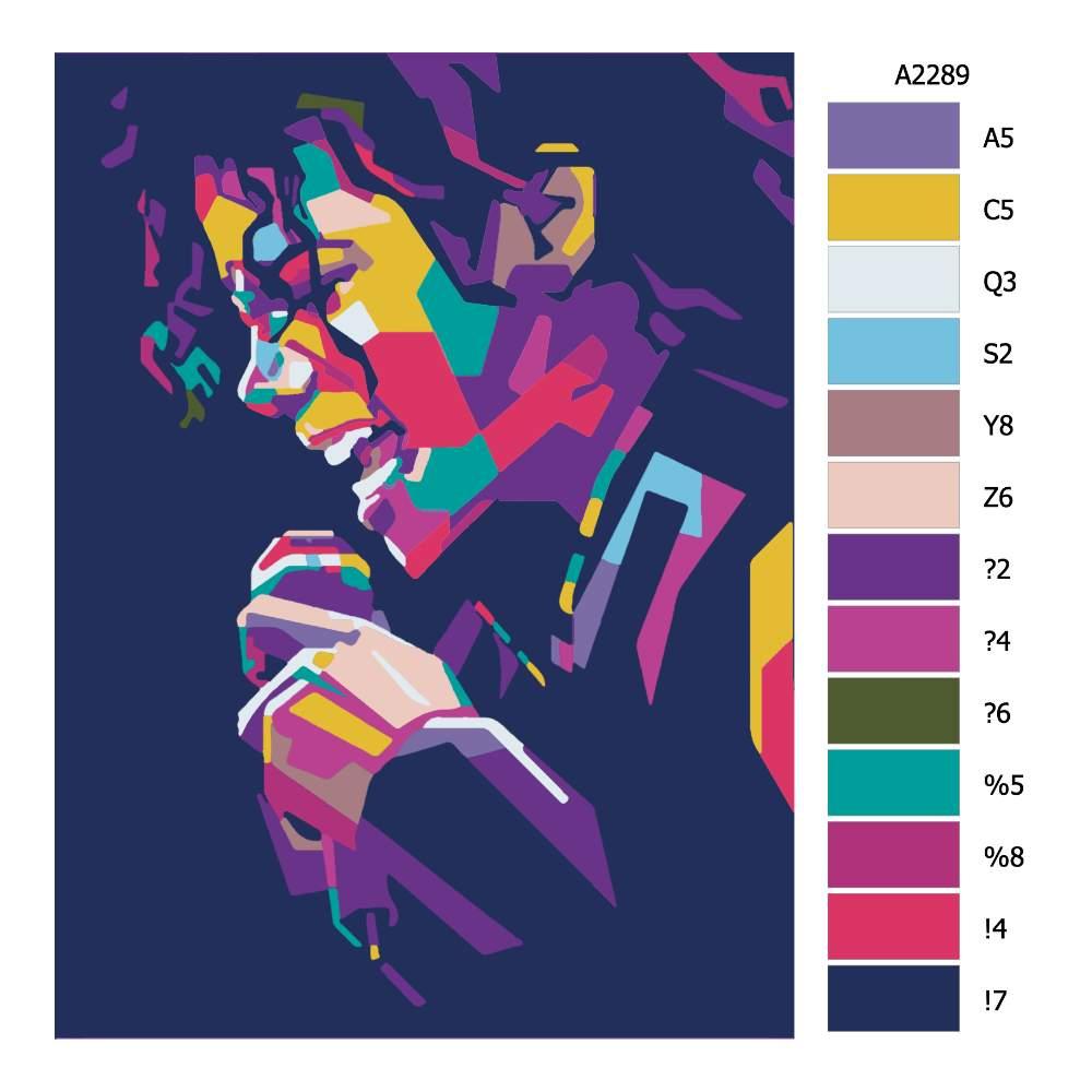 Návod pro malování podle čísel Michael Jackson 03