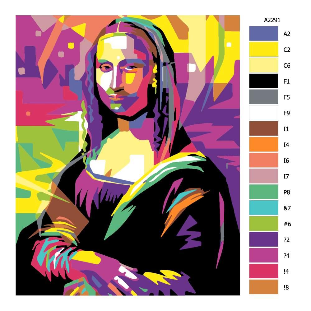 Návod pro malování podle čísel Mona Lisa 02