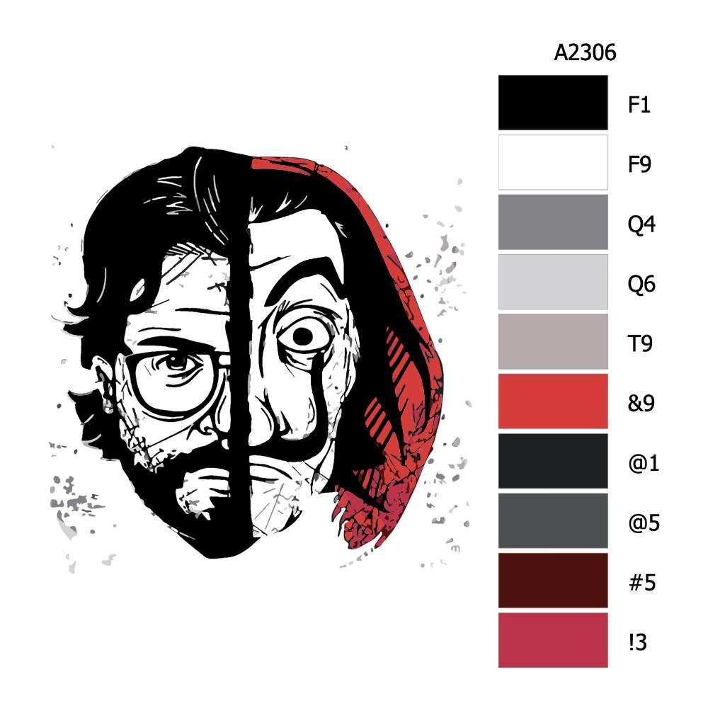 Návod pro malování podle čísel Papírový dům 02