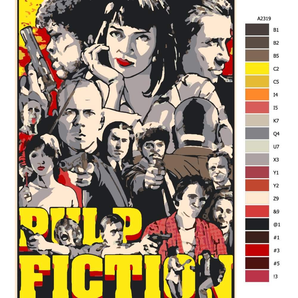 Malování podle čísel Pulp Fiction 01