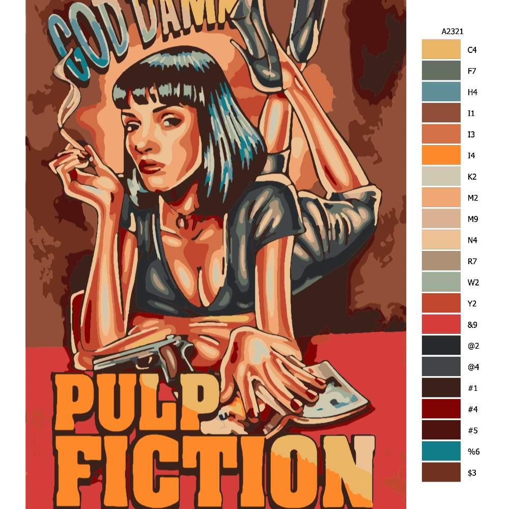 Návod pro malování podle čísel Pulp Fiction 03