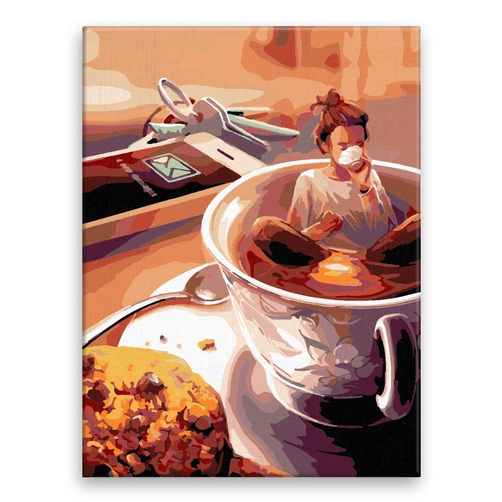 Malování podle čísel Ranní káva