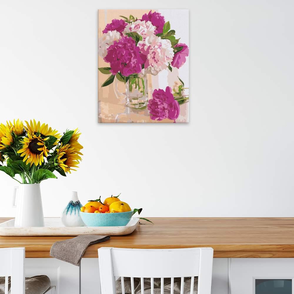 Malování podle čísel Skleněná váza