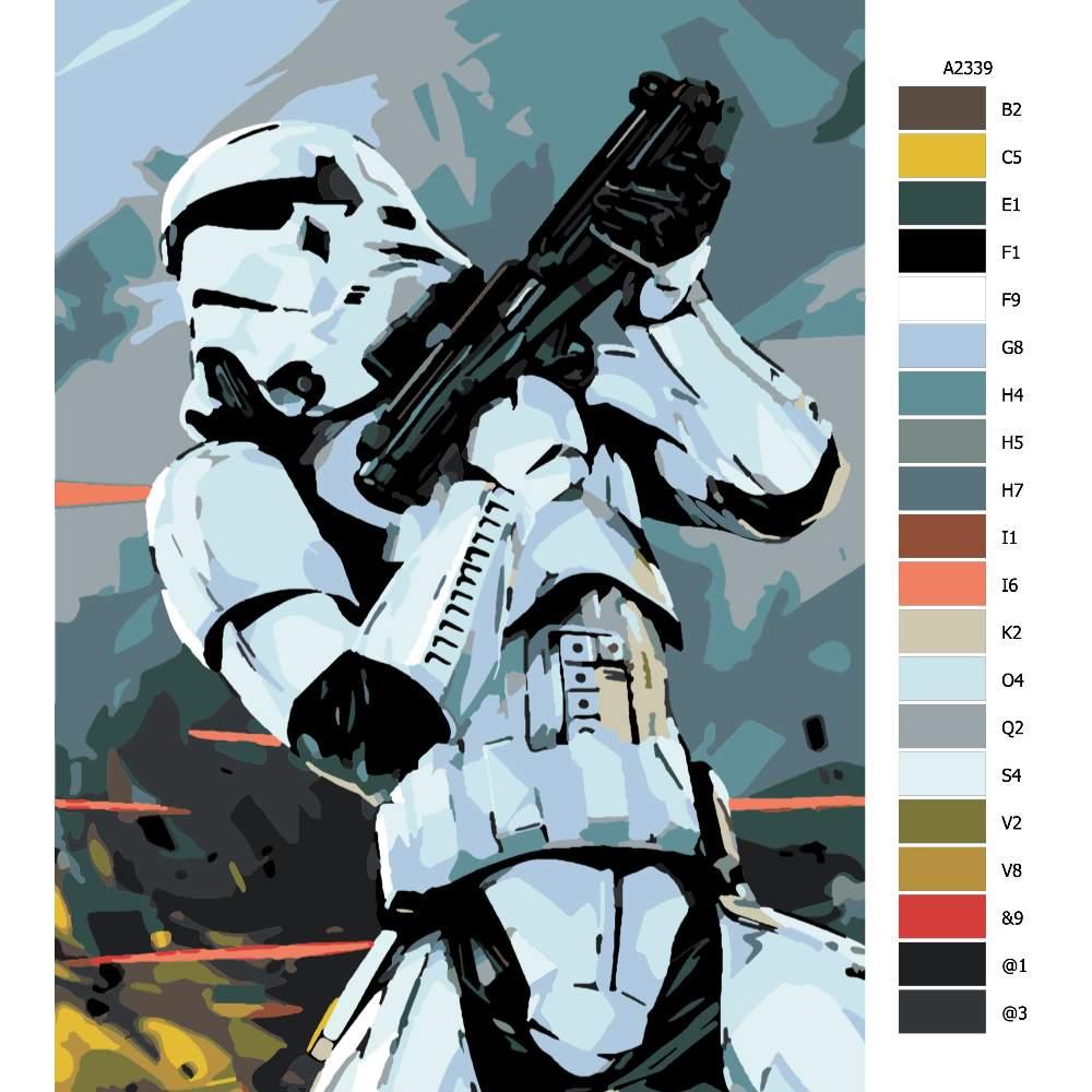 Návod pro malování podle čísel Stormtrooper