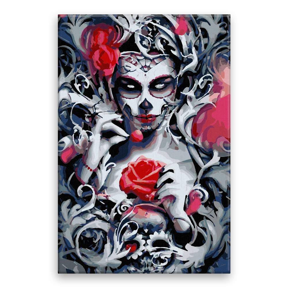 Malování podle čísel Den mrtvých