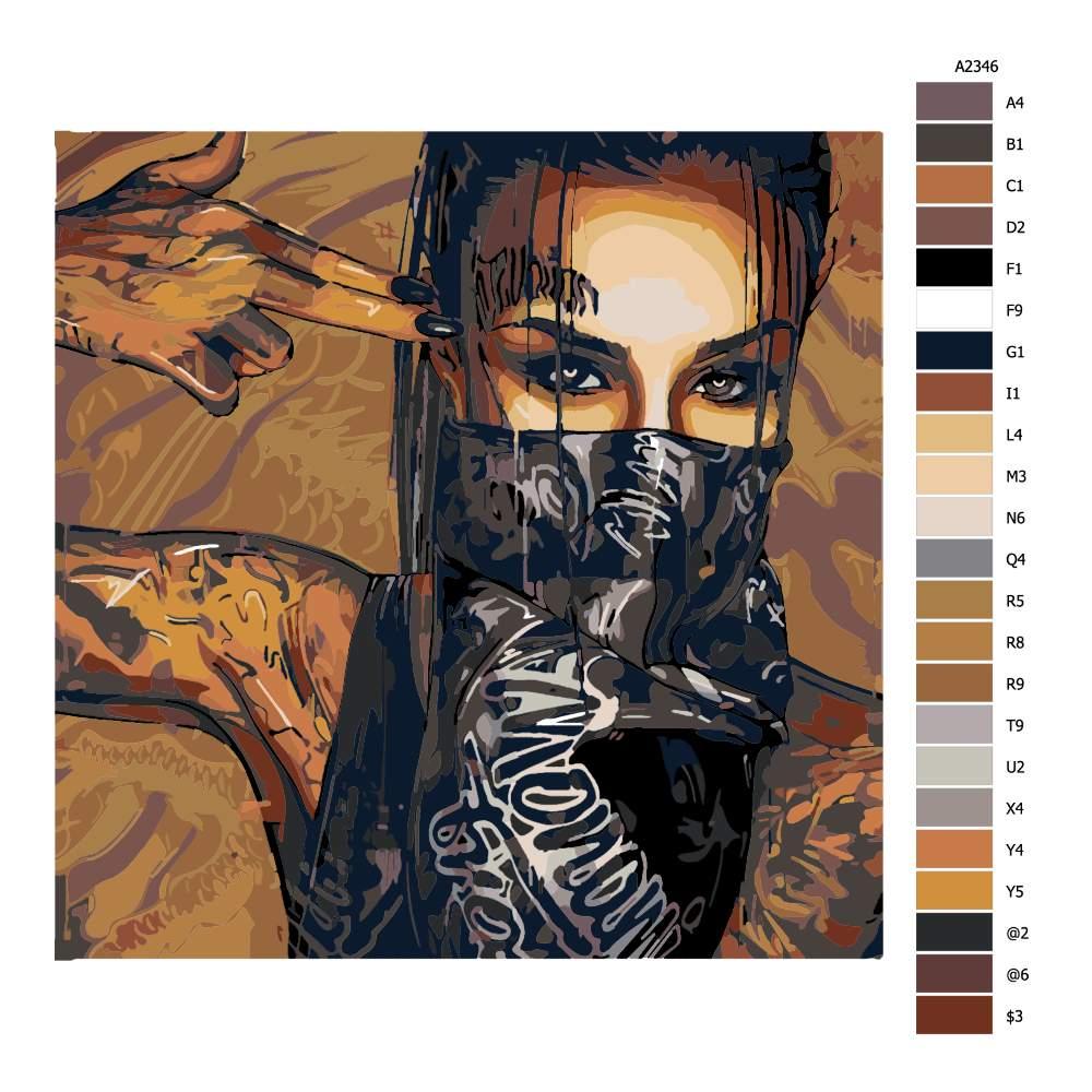 Návod pro malování podle čísel Tattoo 01