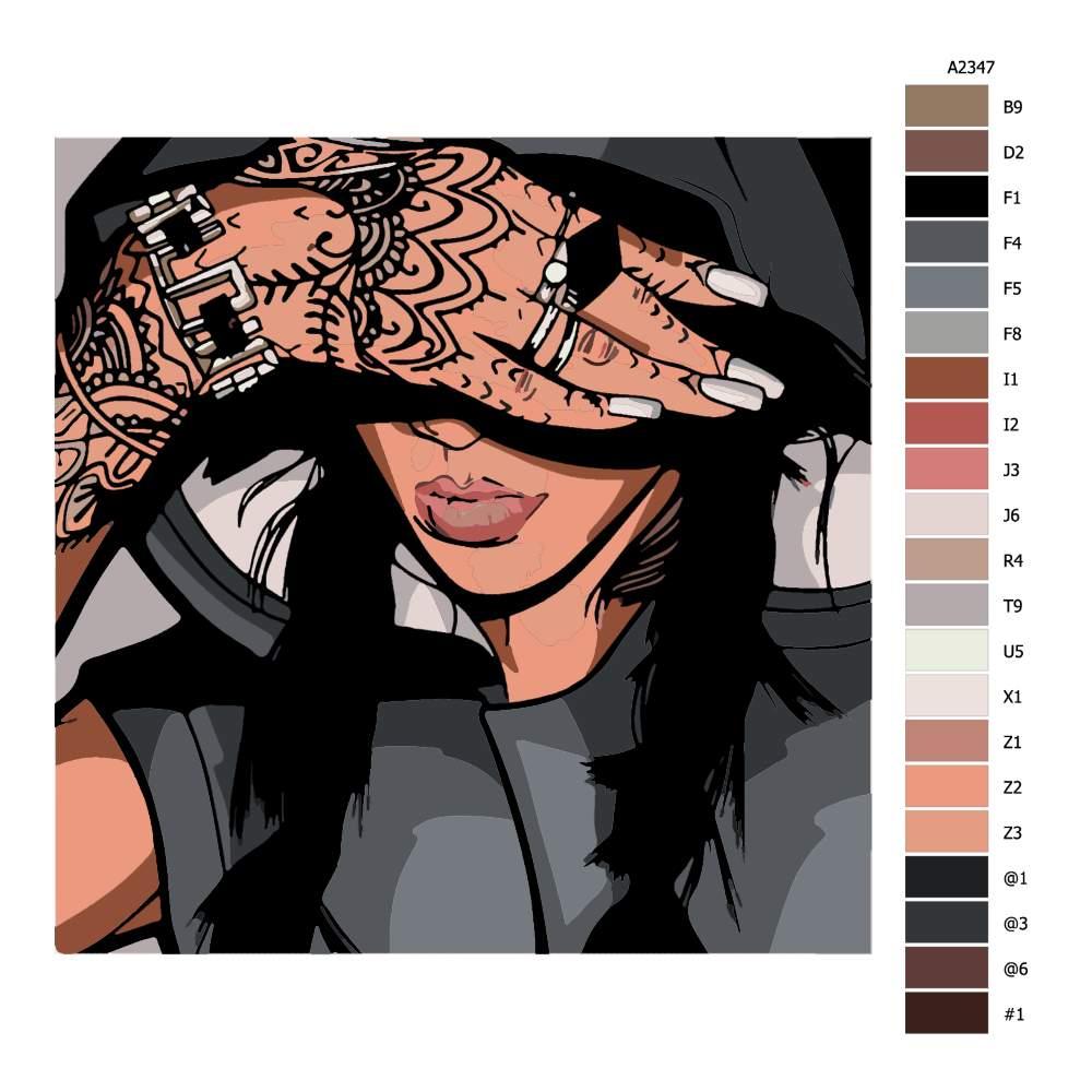 Návod pro malování podle čísel Tattoo 02