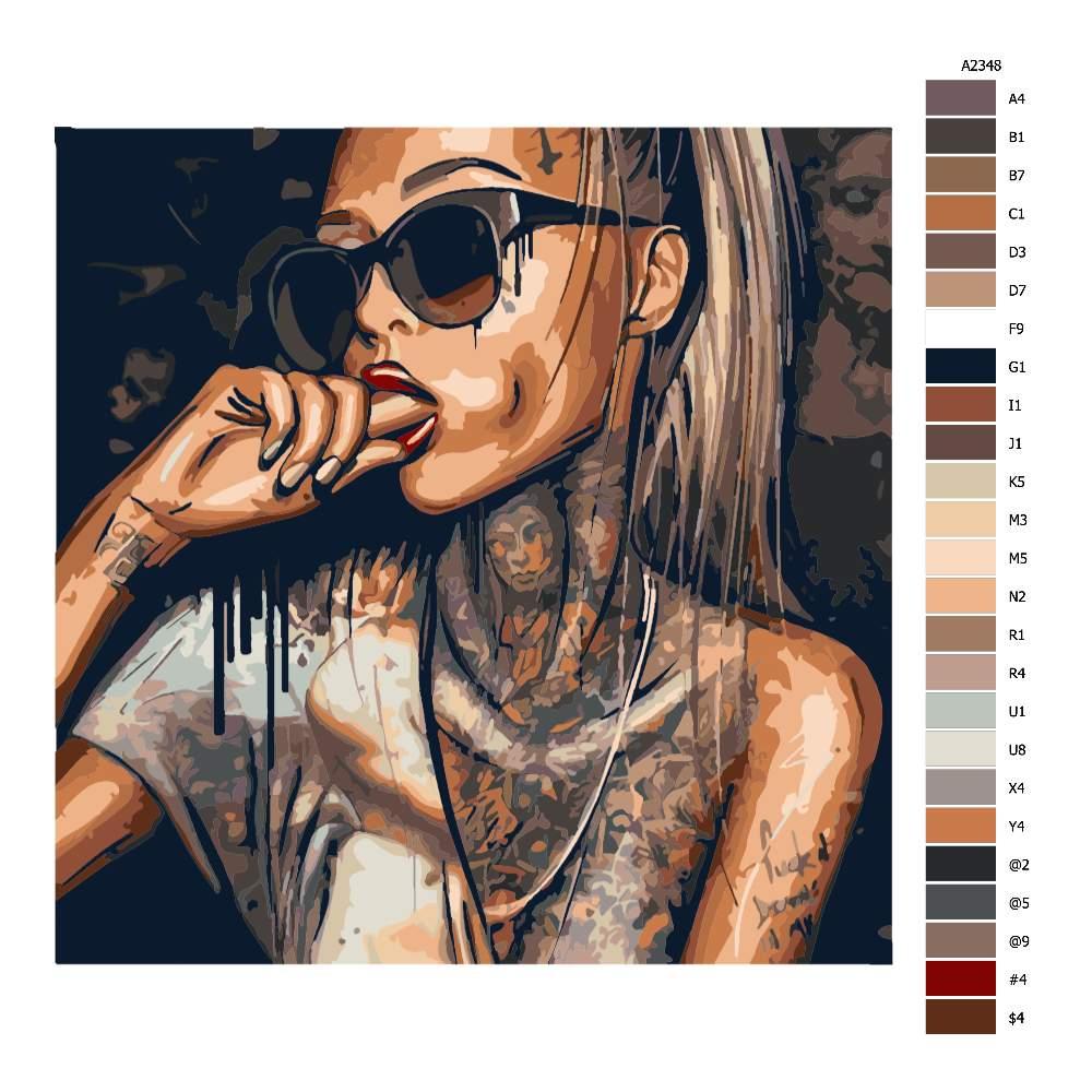 Návod pro malování podle čísel Tattoo 03