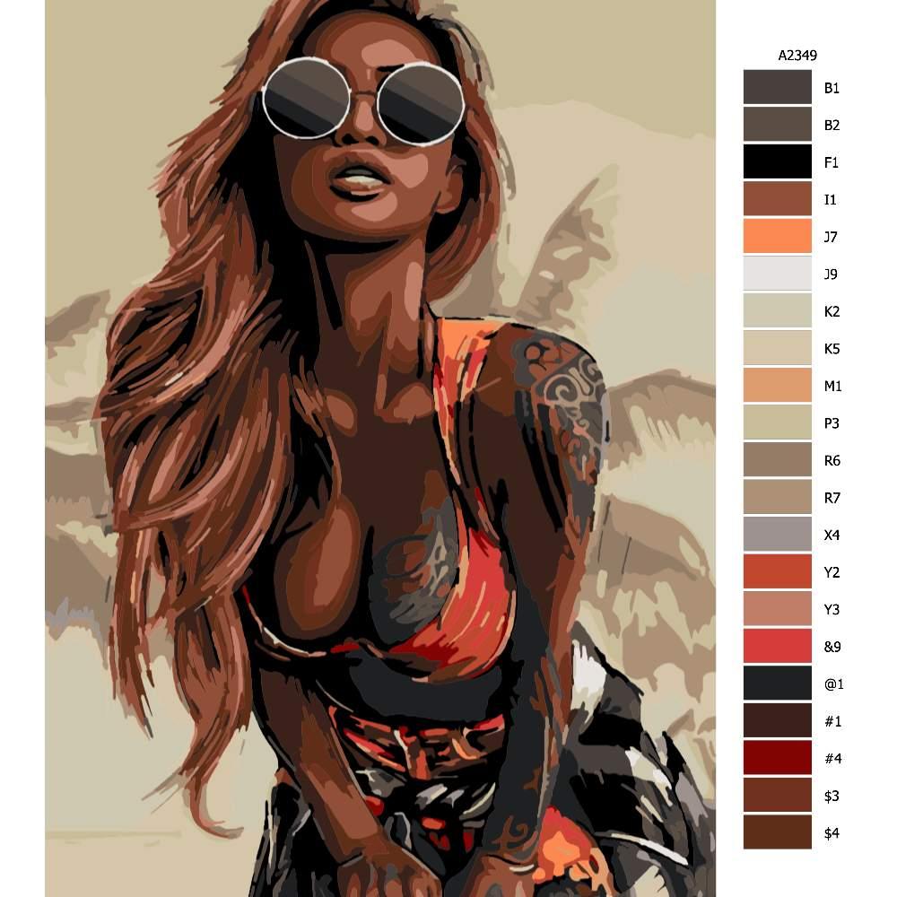 Návod pro malování podle čísel Tattoo 04