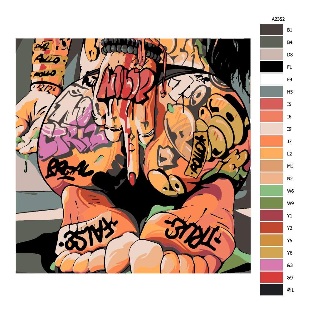 Malování podle čísel Tattoo 07