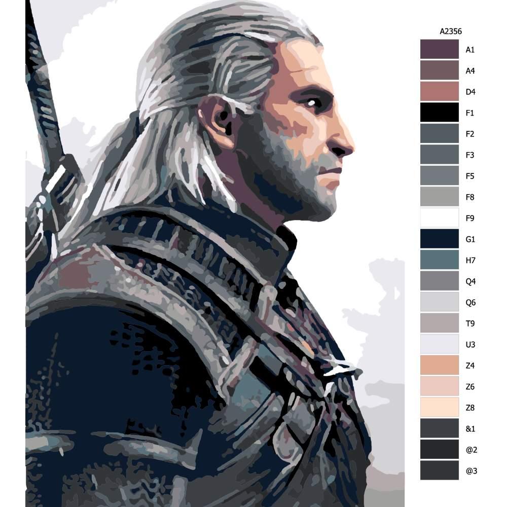 Malování podle čísel The Witcher 02
