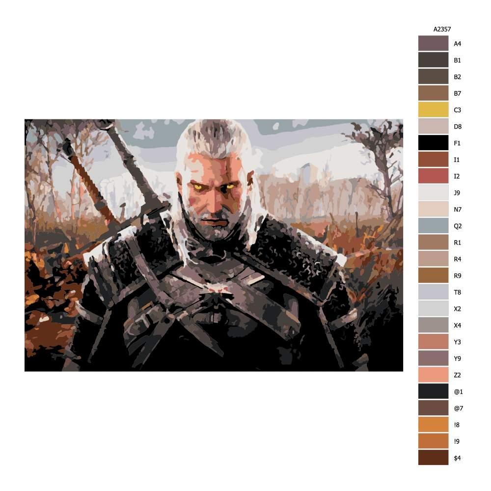 Návod pro malování podle čísel The Witcher 03