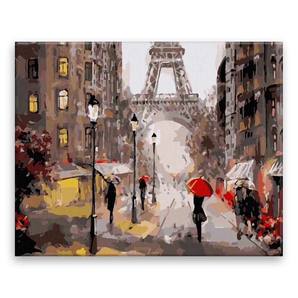 Malování podle čísel Ulice Paříže
