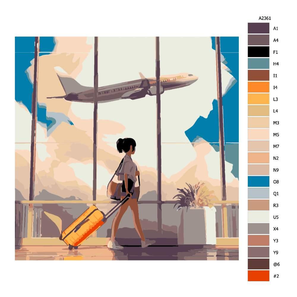 Malování podle čísel V odbavovací hale