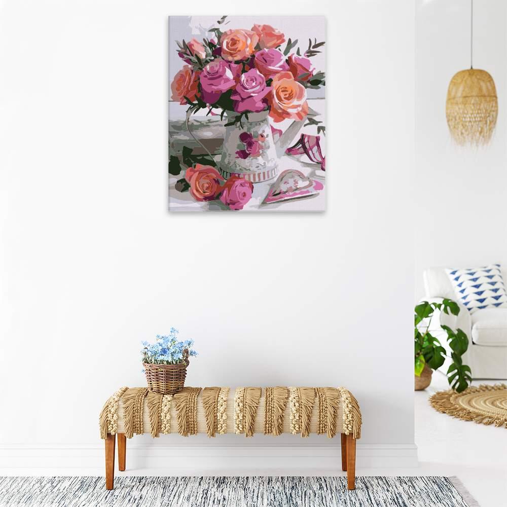 Malování podle čísel Váza plná květů