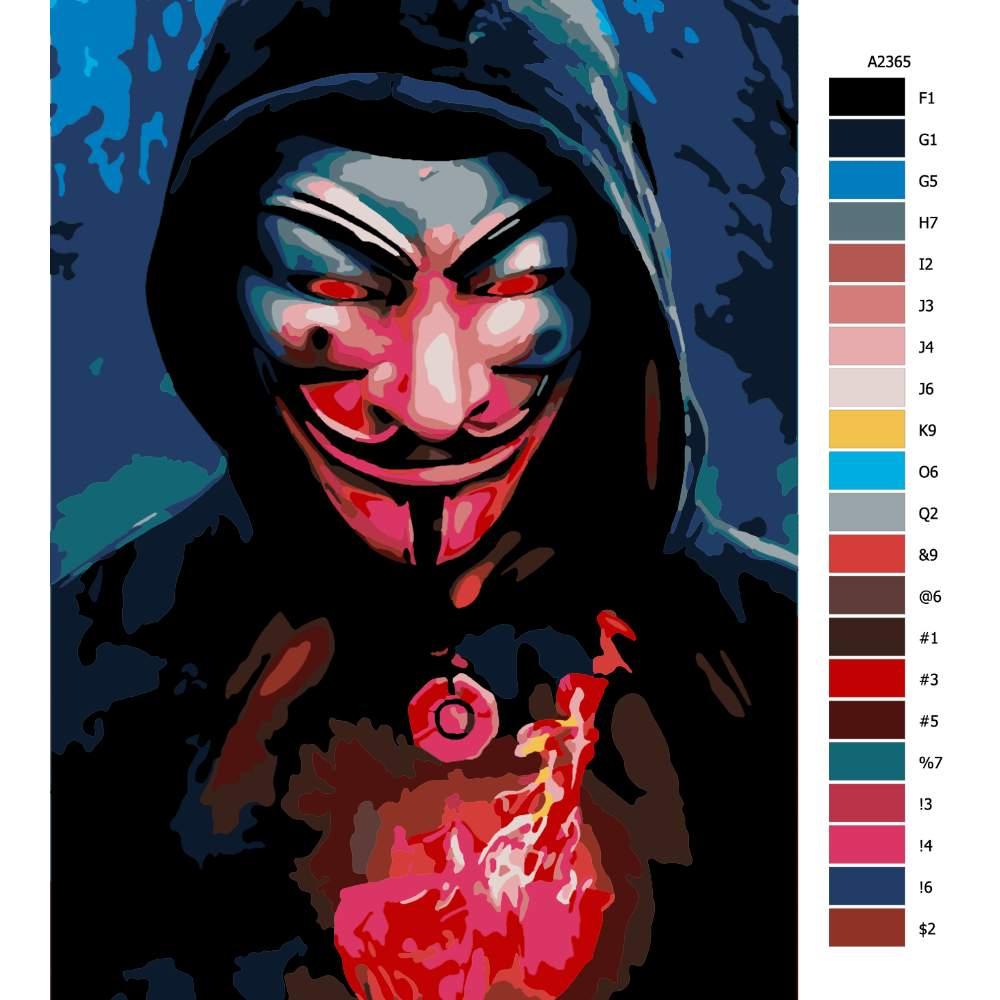 Návod pro malování podle čísel Vendeta 01