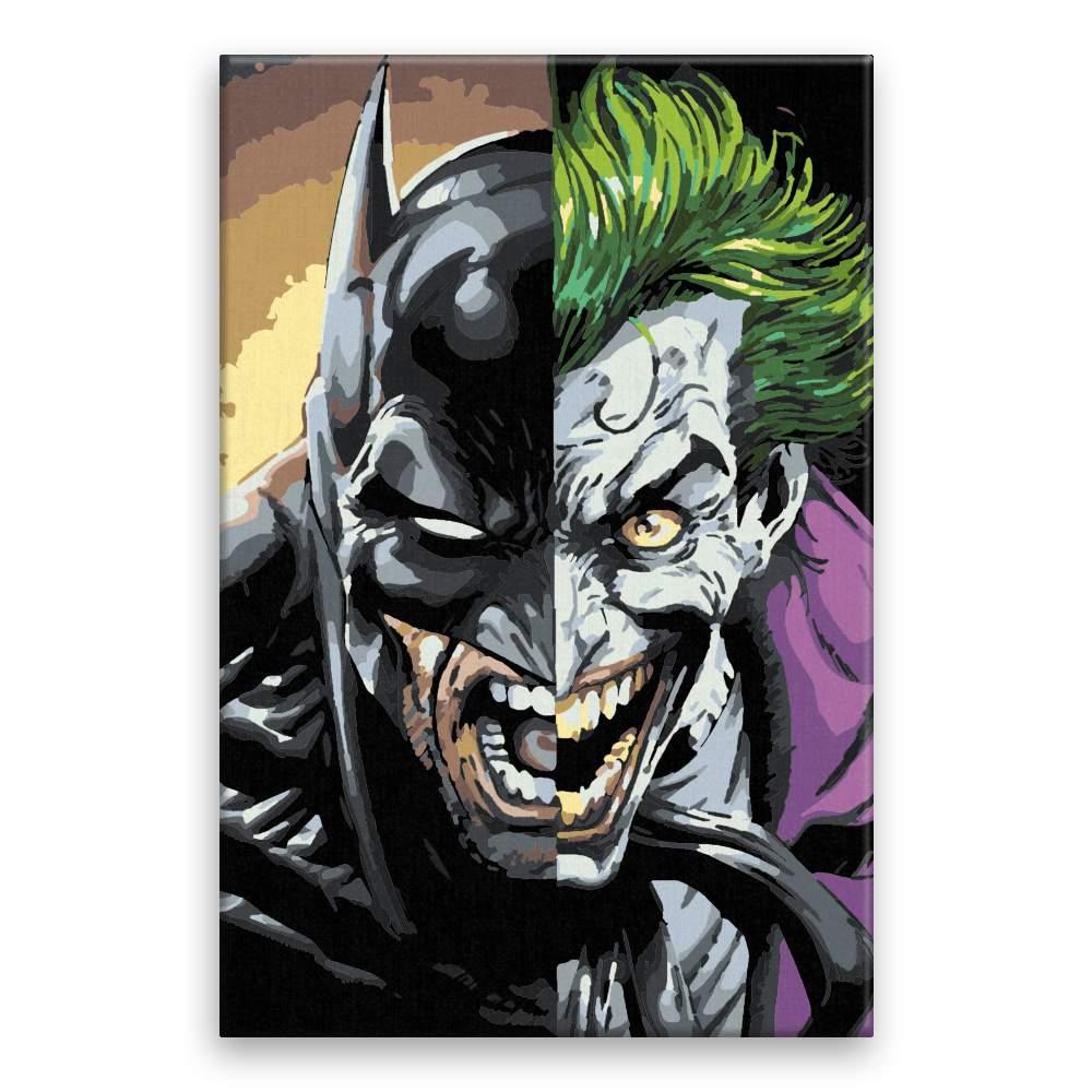 Malování podle čísel Batman vs Joker