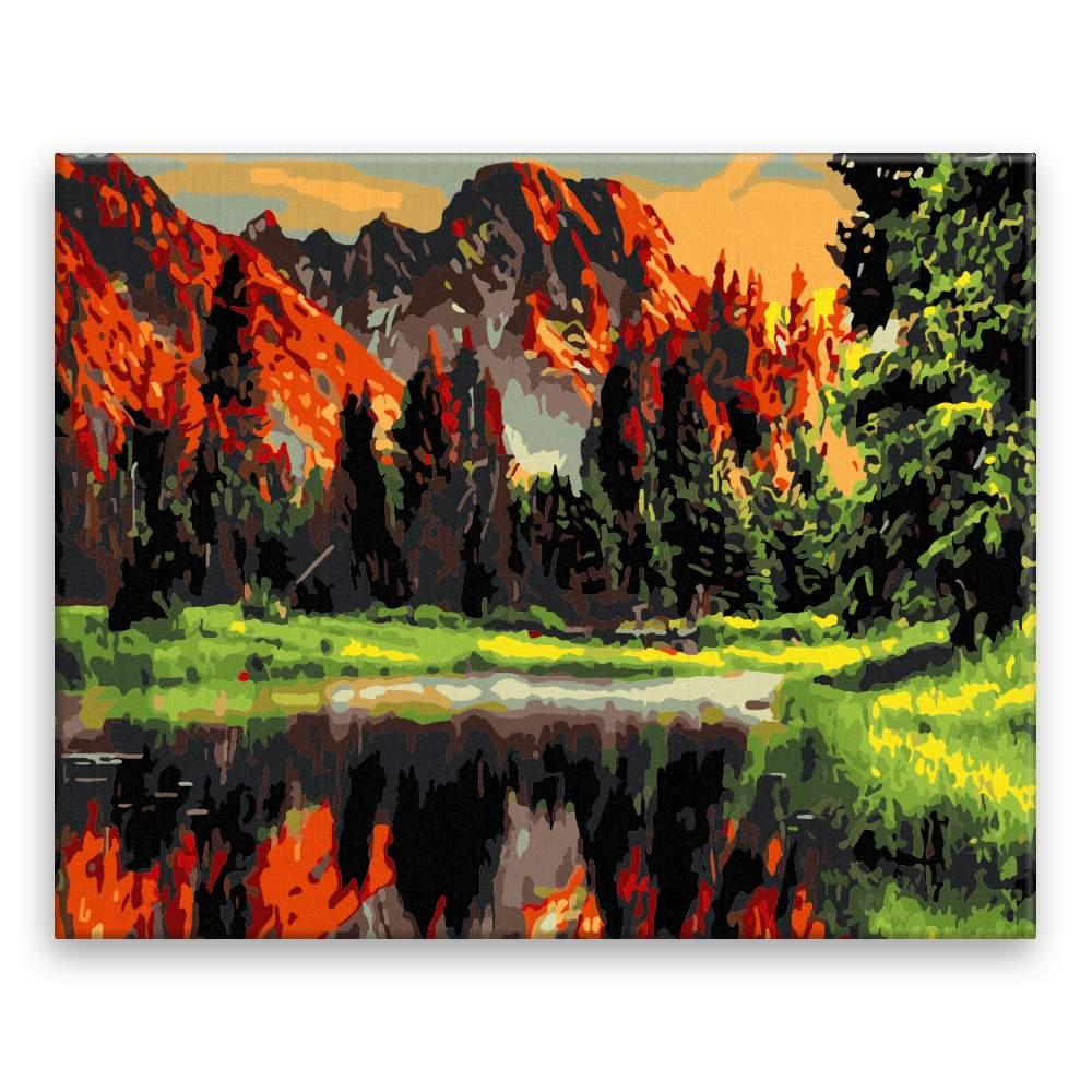 Malování podle čísel Horská bystřina