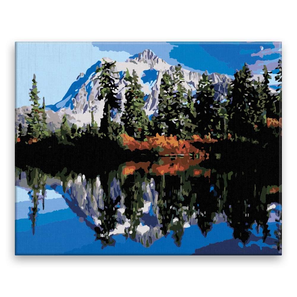 Malování podle čísel Horské jezero