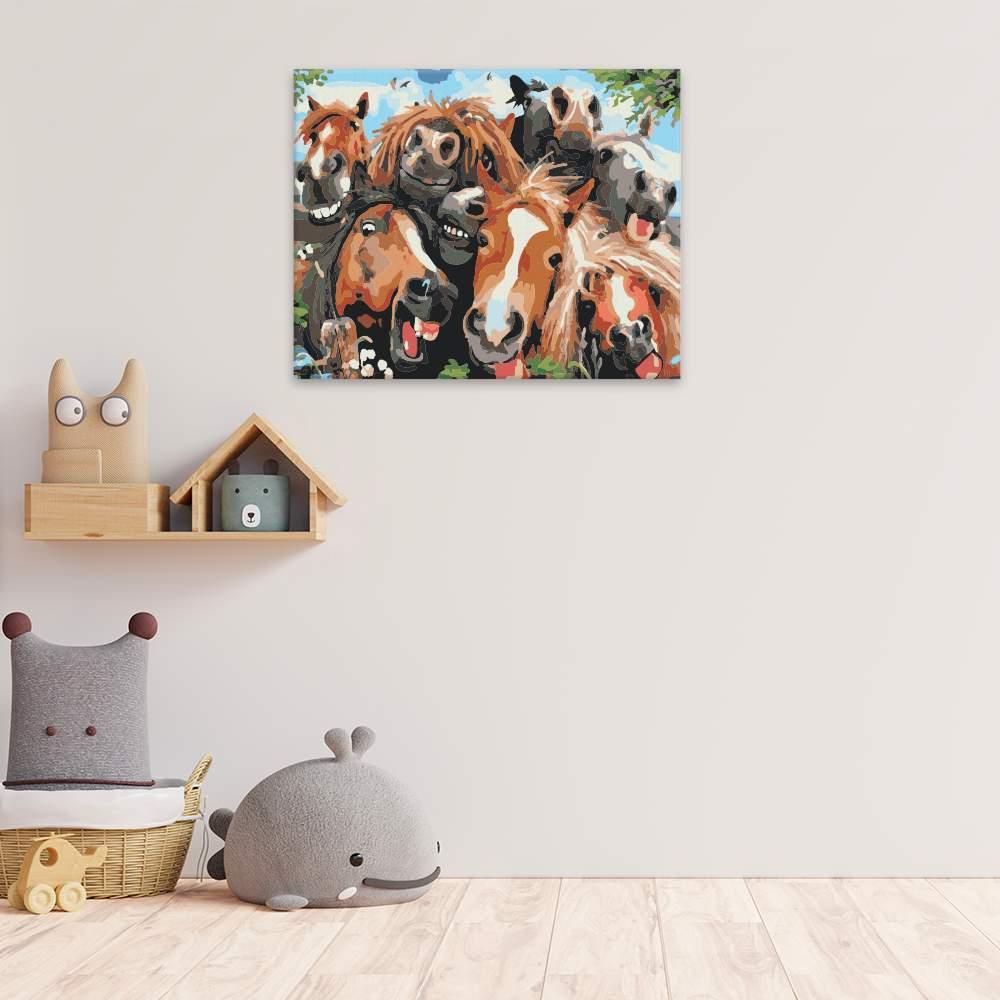 Malování podle čísel Koňské selfie