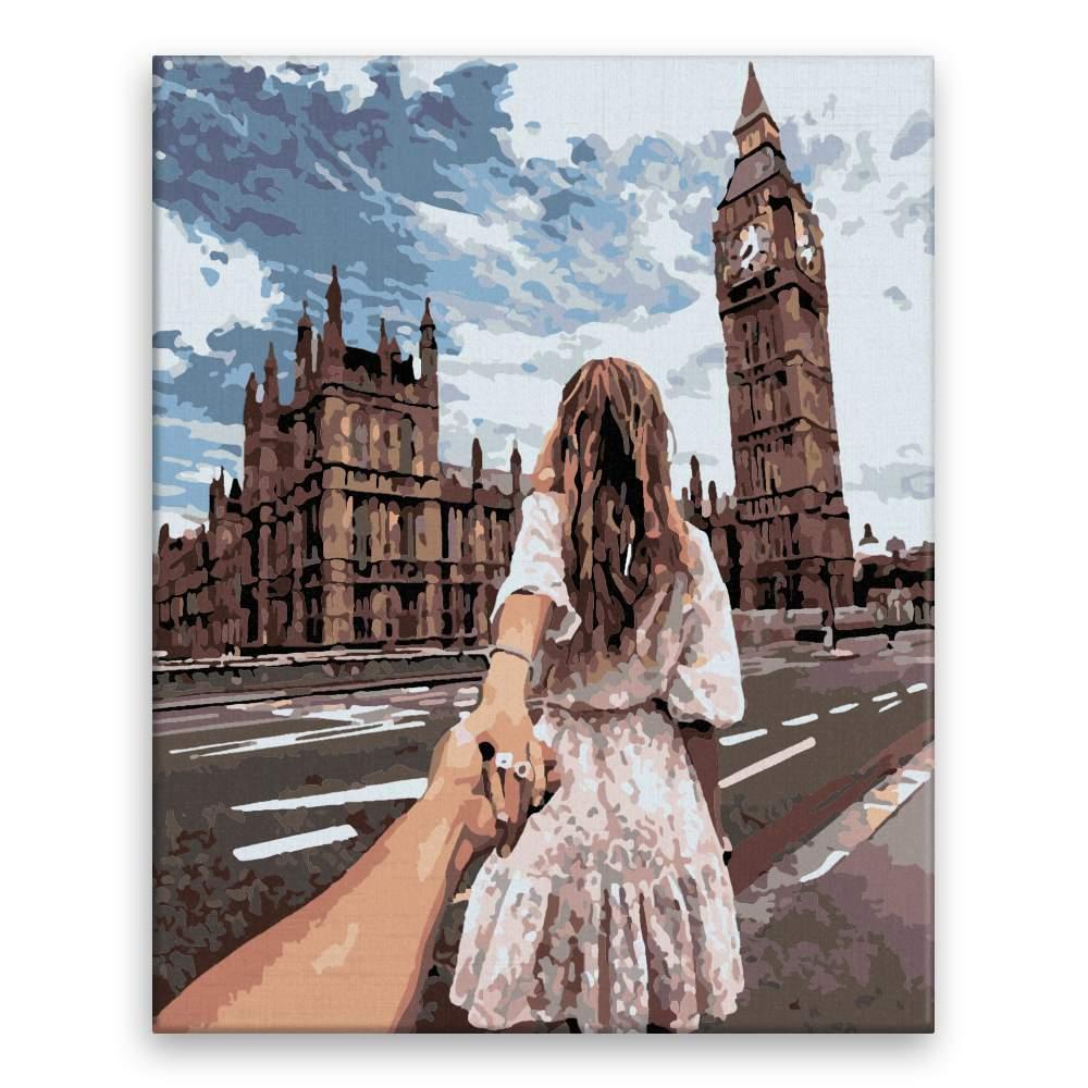 Malování podle čísel Víkend v Londýně